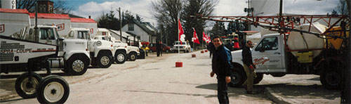 Flag Day in Mount Forest, circa 1998. Pictured left to right, Willis Horst and Brent Zeinstra.